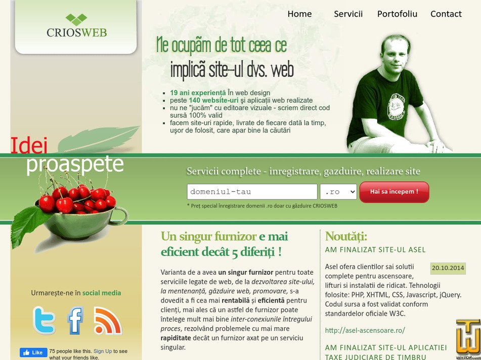 criosweb.ro Screenshot