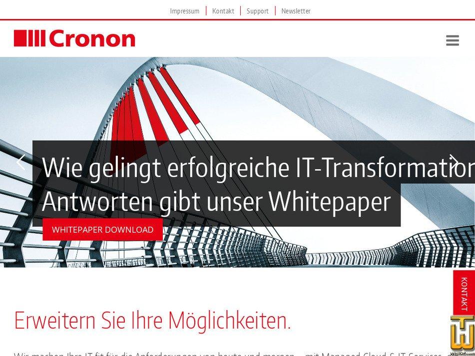 cronon.net screenshot