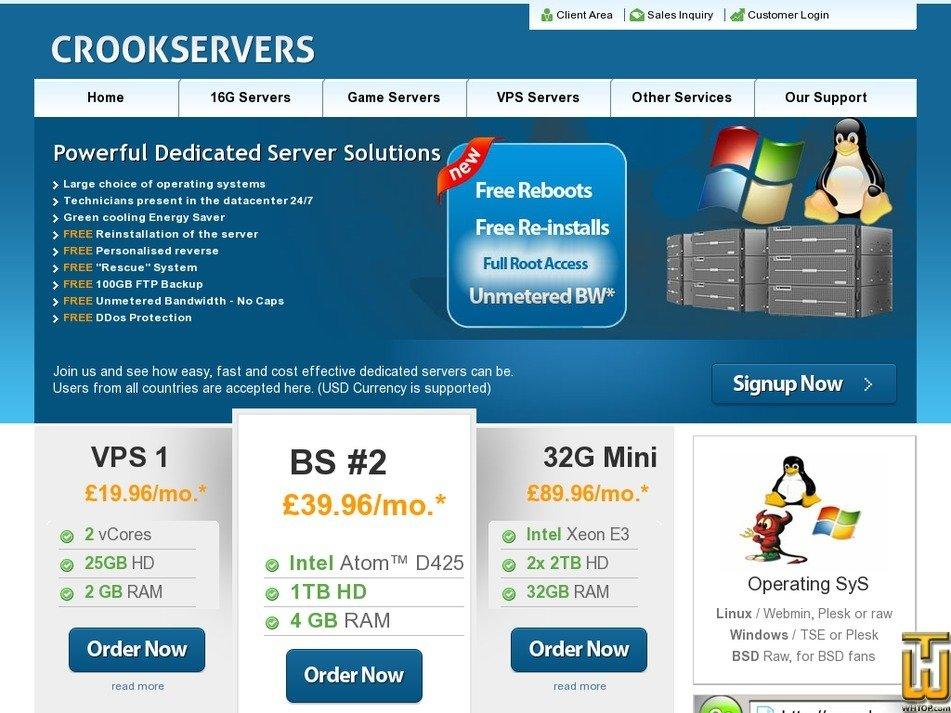 crookservers.com Screenshot
