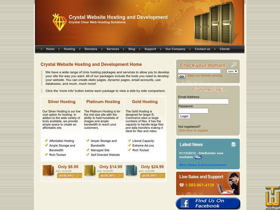 crystal-hosting.net Screenshot