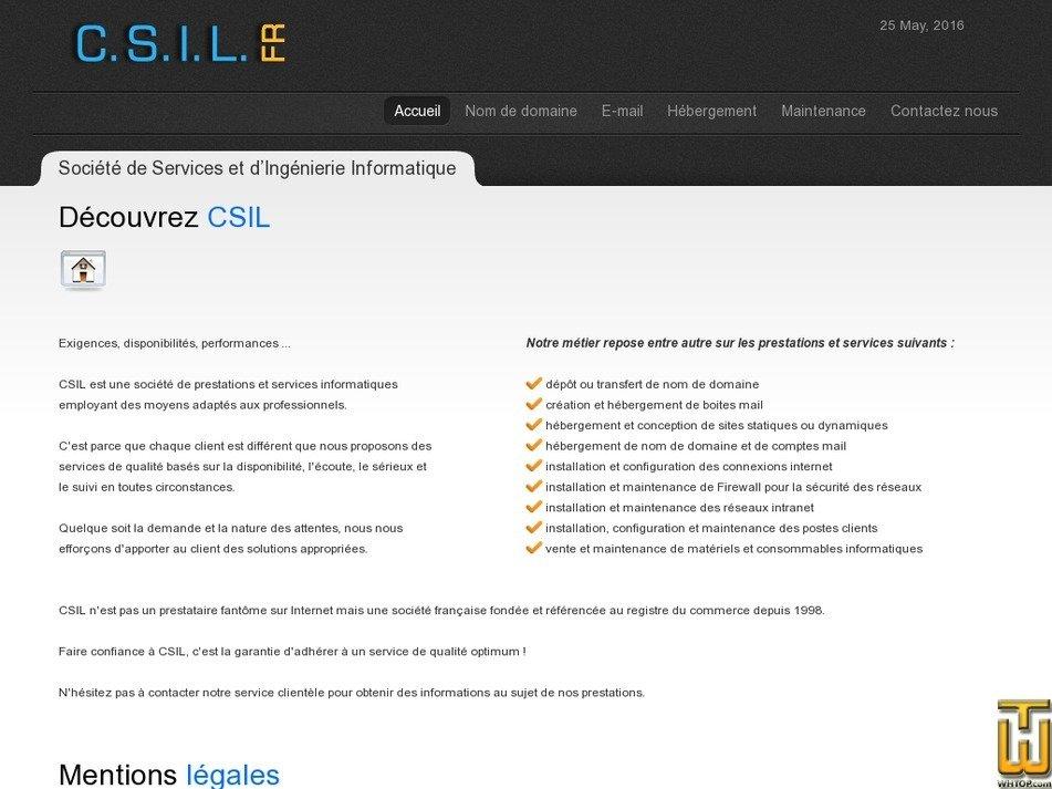 csil.fr Screenshot