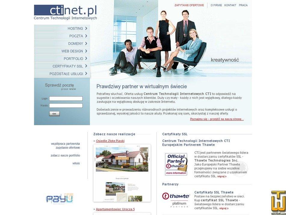 ctinet.pl Screenshot
