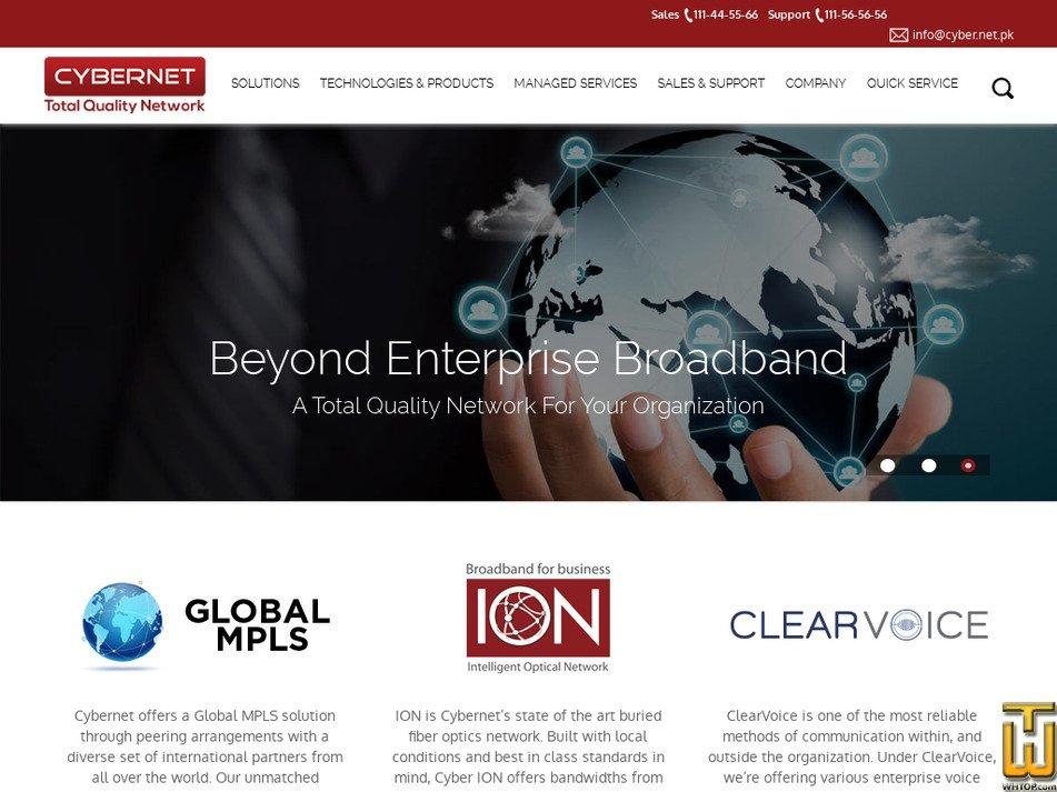 cyber.net.pk screenshot