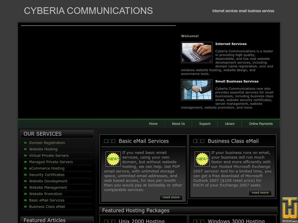 cyberiacom.net Screenshot