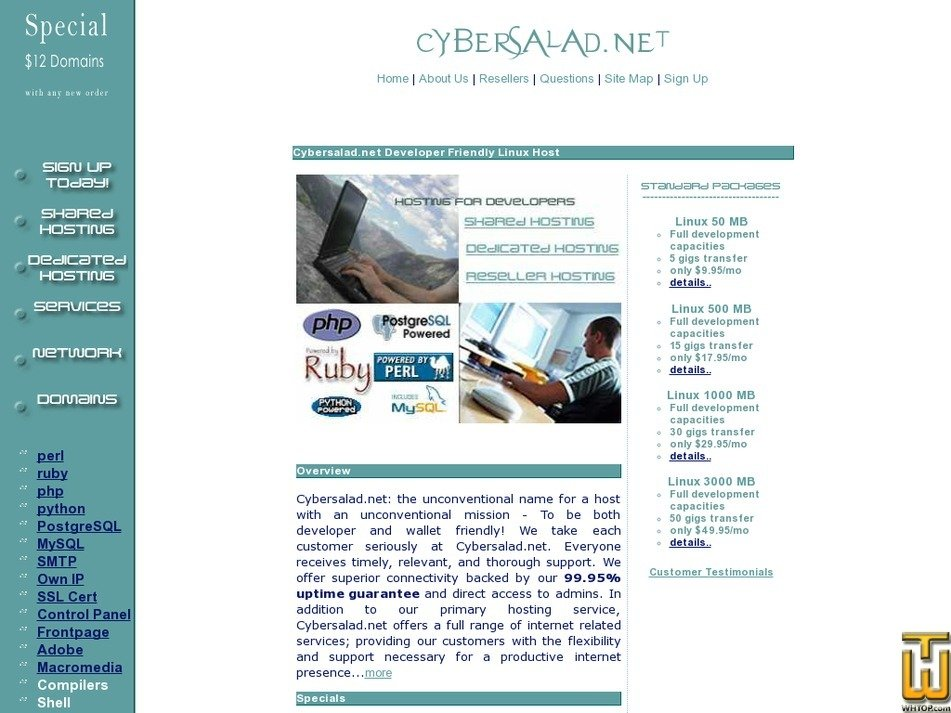 cybersalad.net Screenshot