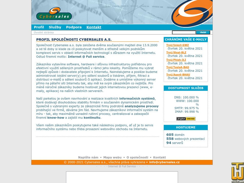 cybersales.cz Screenshot