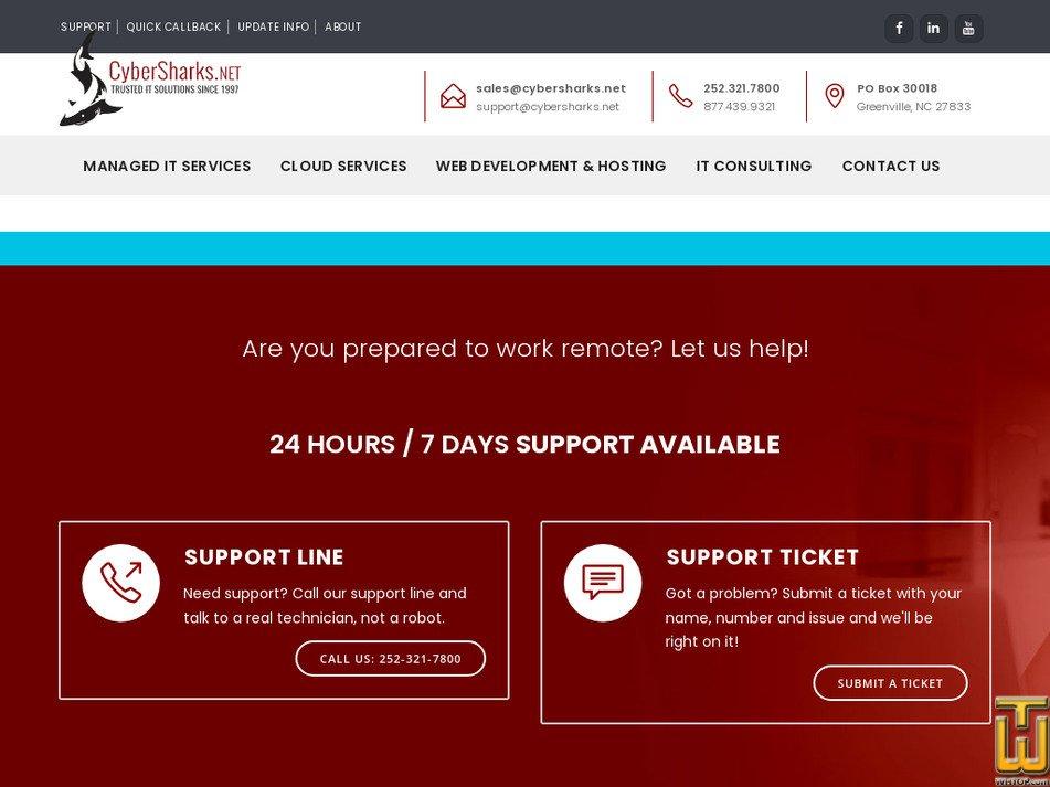 cybersharks.net Screenshot