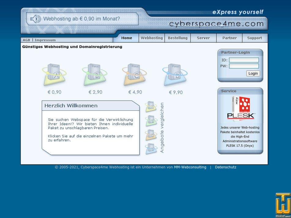 cyberspace4me.com Screenshot