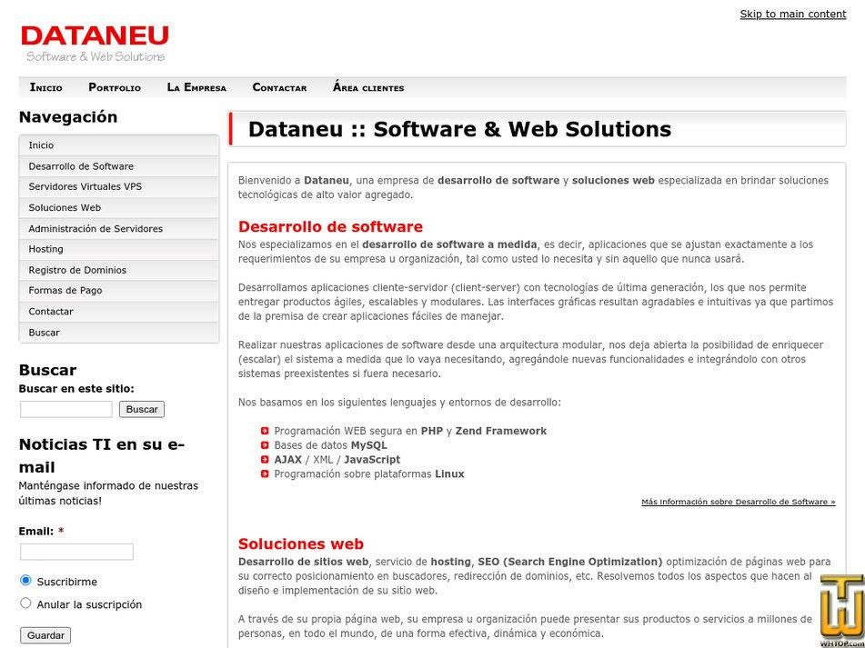 dataneu.com.ar Screenshot