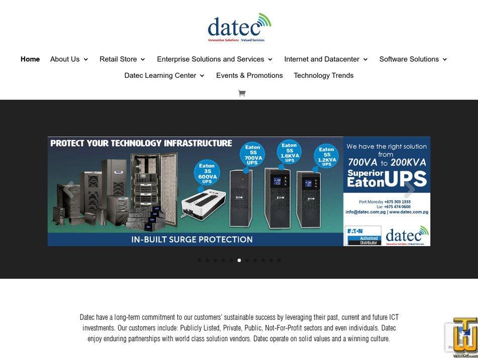 datec.com.pg Screenshot