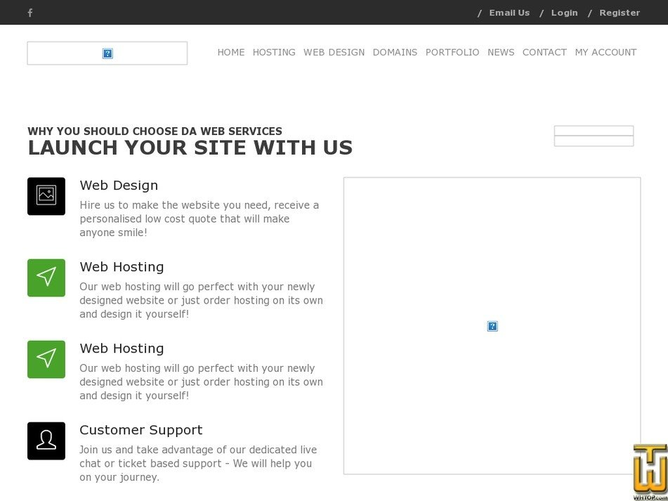 dawebservices.com Screenshot