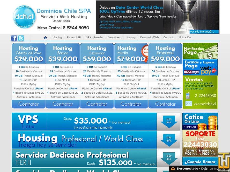dch.cl Screenshot