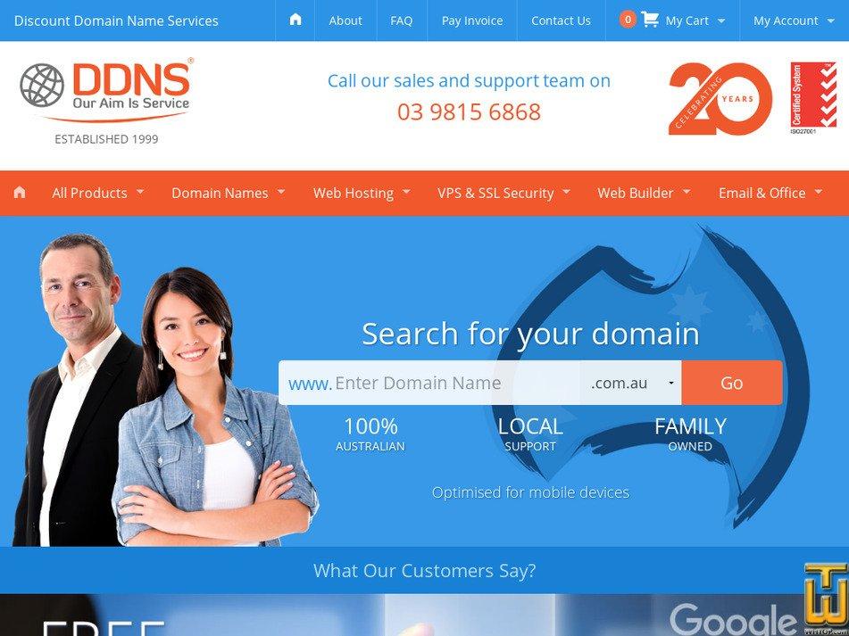 ddns.com.au Screenshot