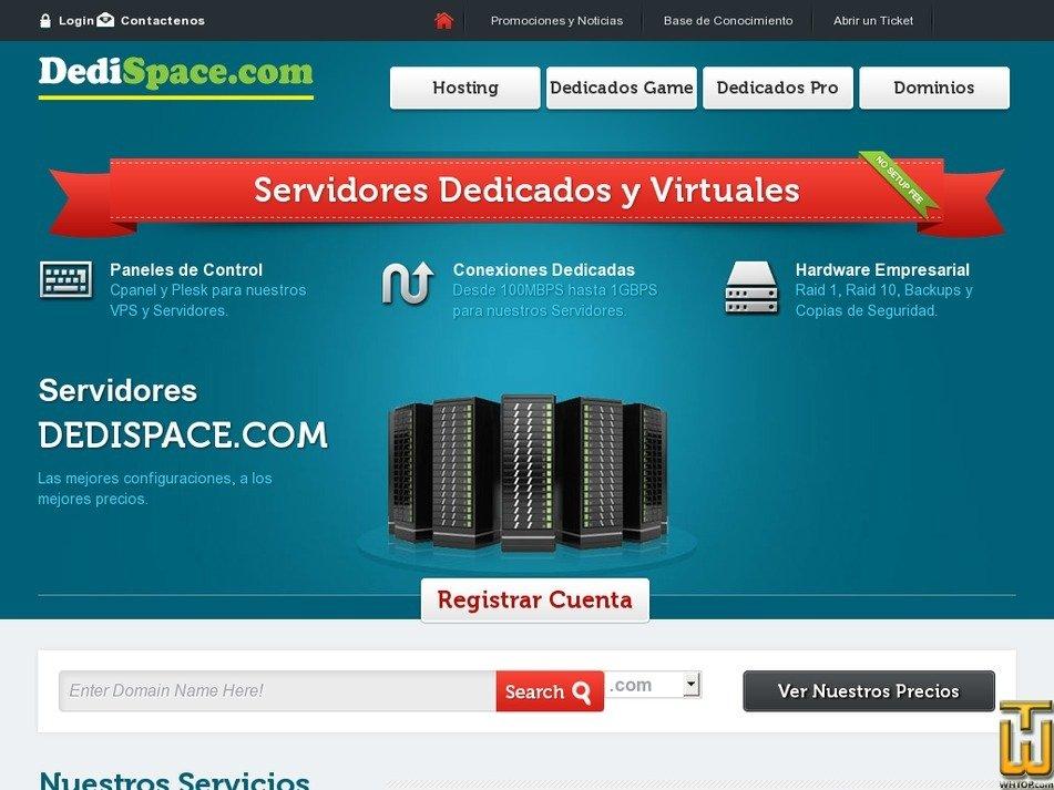 dedispace.com Screenshot