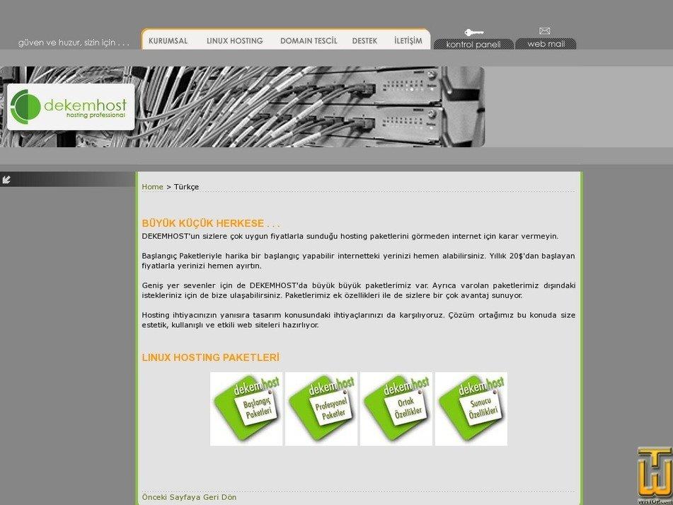 dekemhost.com Screenshot