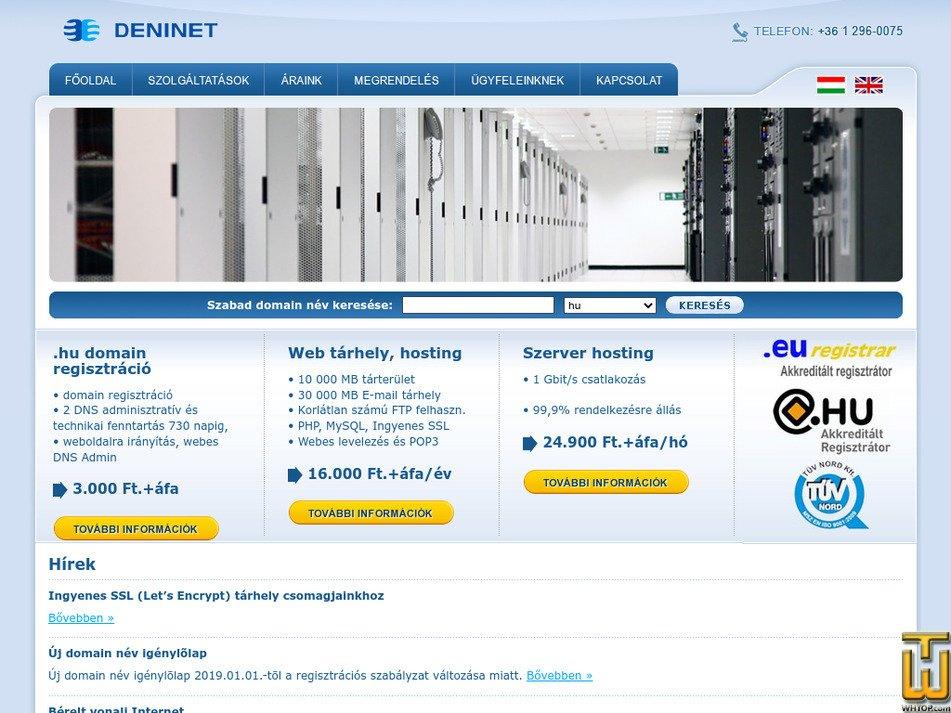 deninet.hu Screenshot