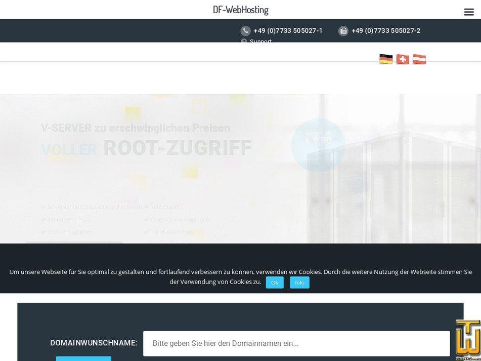 df-webhosting.de Screenshot