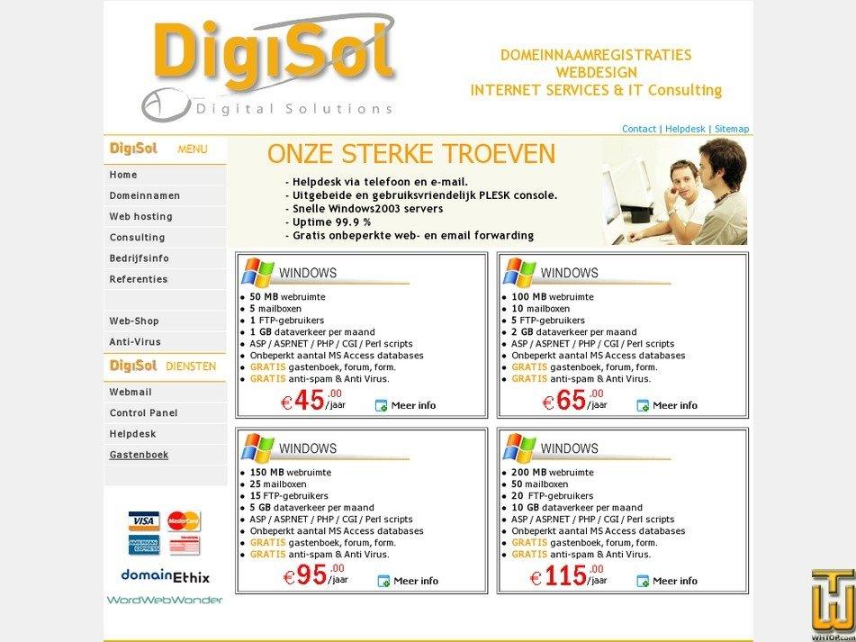 digisol.be Screenshot