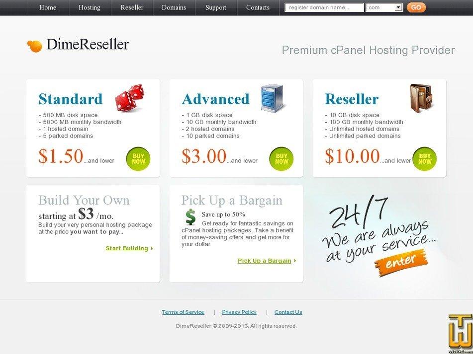 dimereseller.com Screenshot