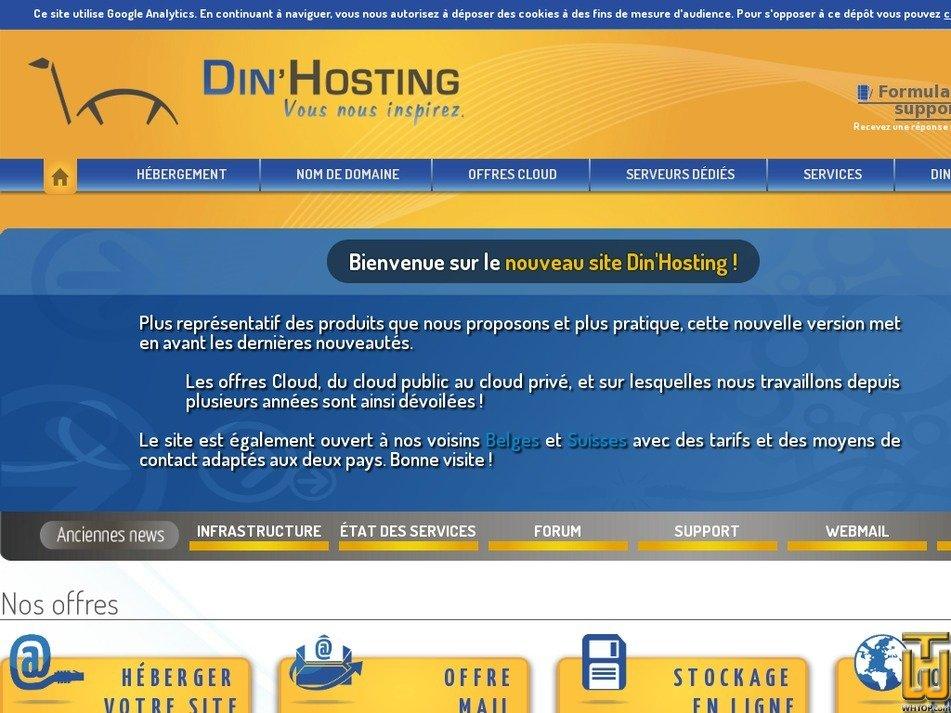dinhosting.fr Screenshot