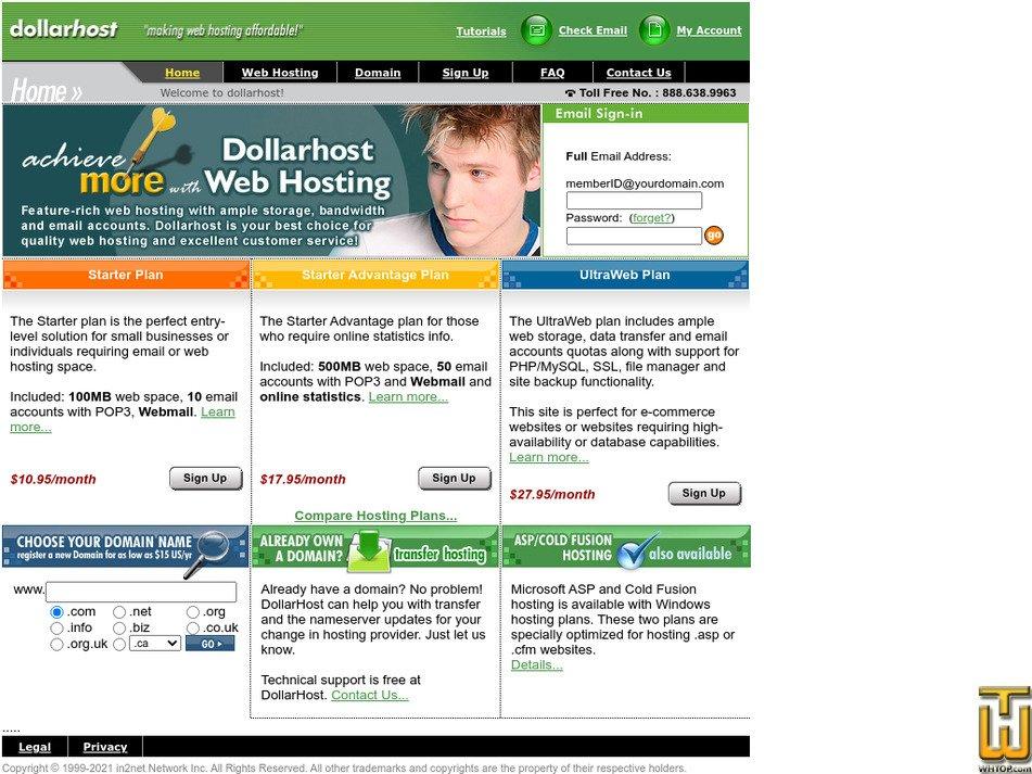 dollarhost.com Screenshot