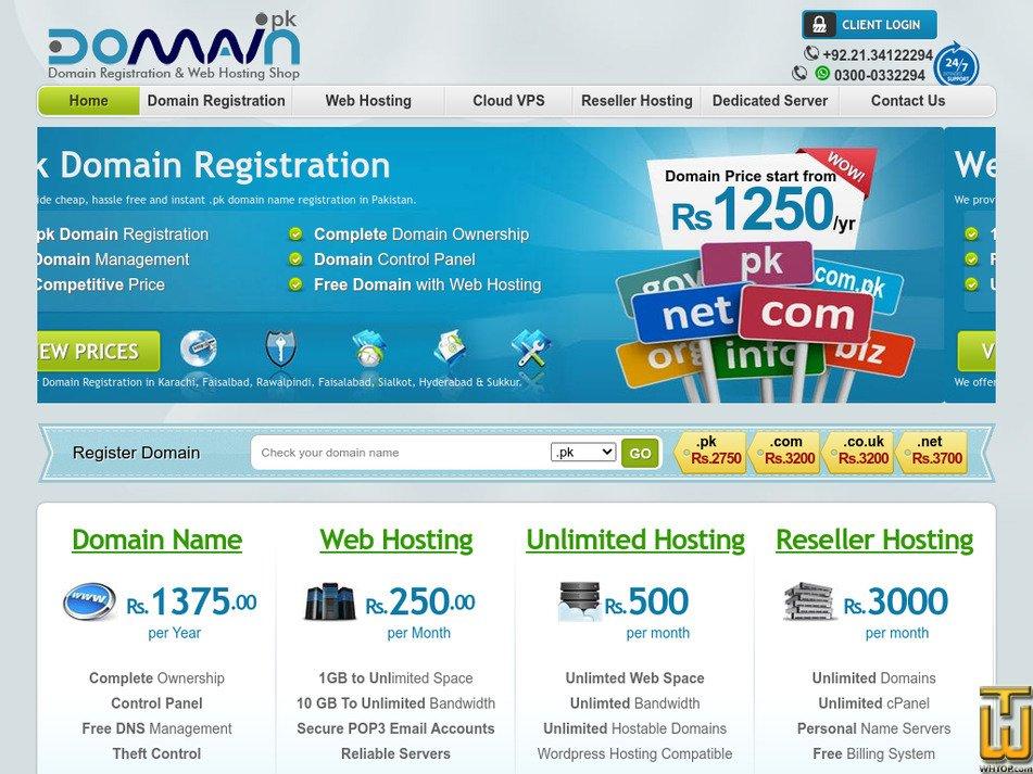 domain.pk Screenshot