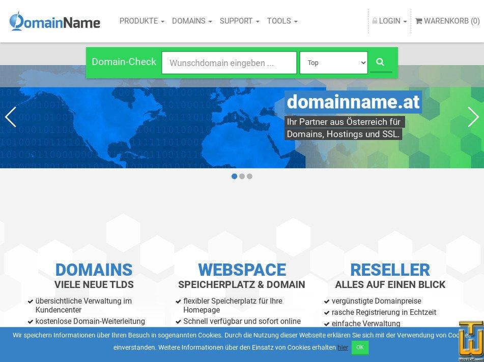 domainname.at Screenshot