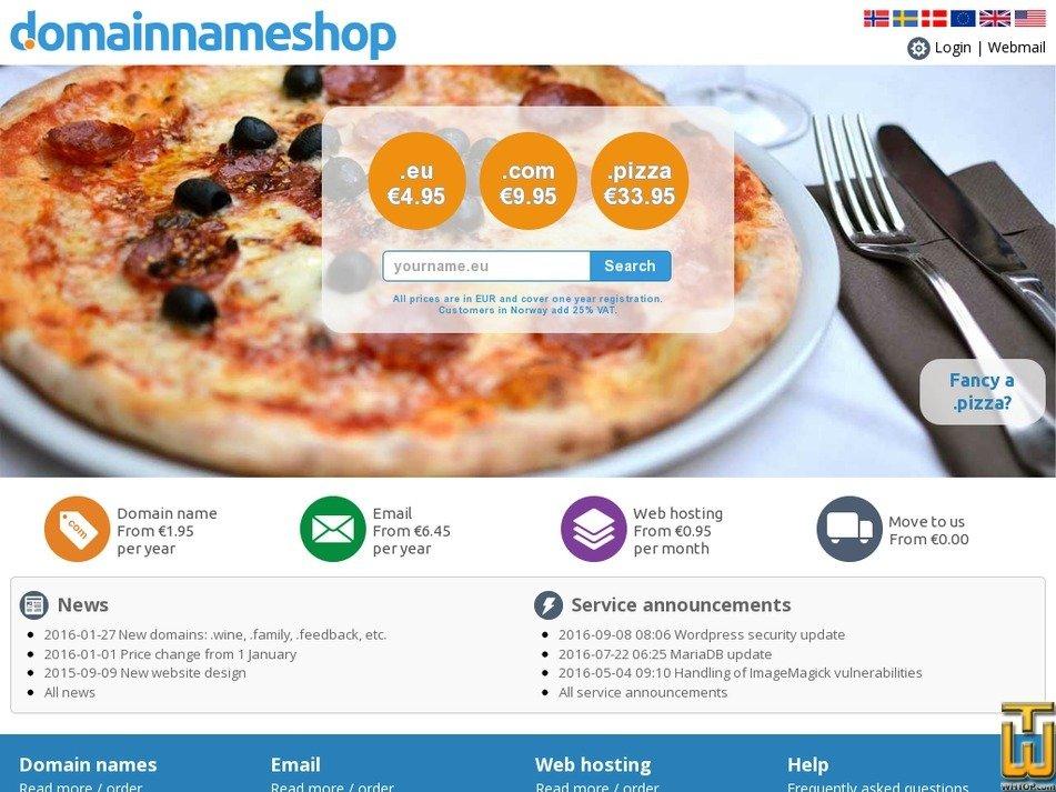 domainnameshop.com screenshot