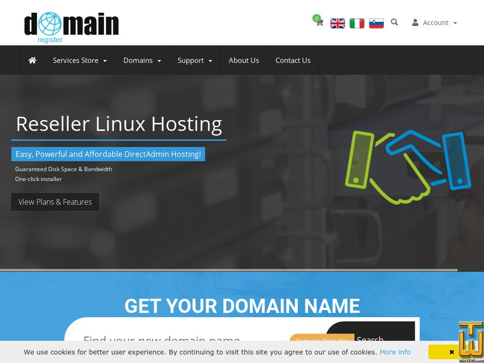 domainregister.international Screenshot