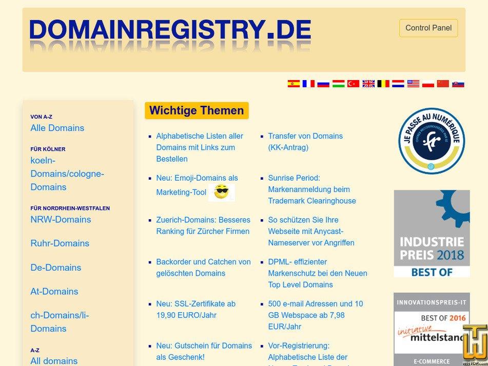 domainregistry.de Screenshot