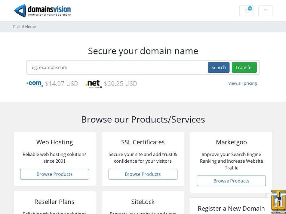 domainsvision.com Screenshot