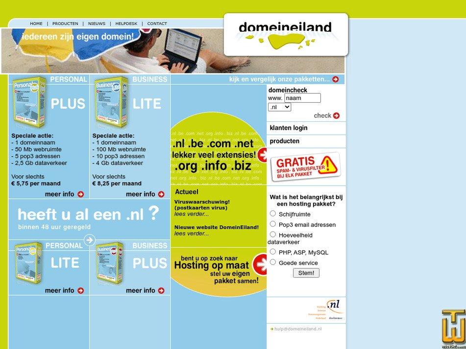 domeineiland.nl Screenshot