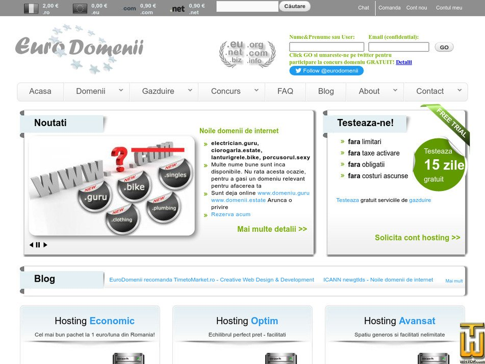 domenii.eu Screenshot