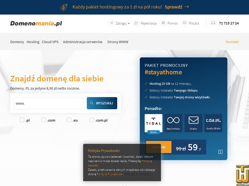domenomania.pl Screenshot