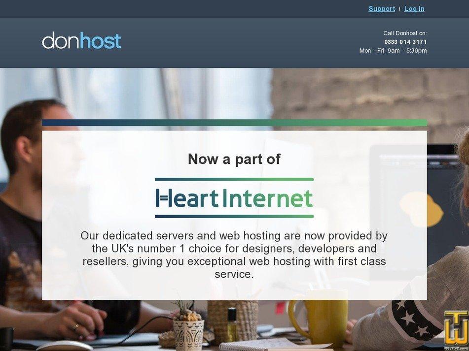 donhost.co.uk Screenshot