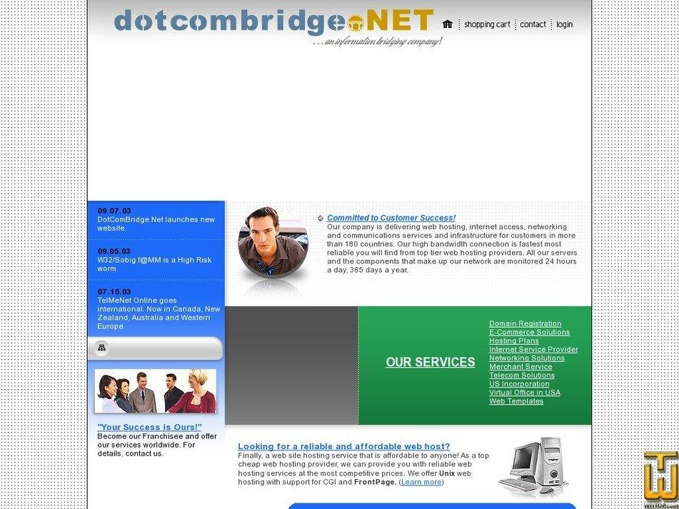dotcombridge.net Screenshot