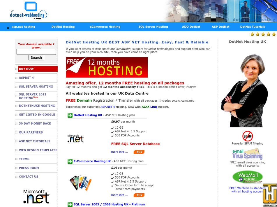 dotnet-webhosting.com Screenshot