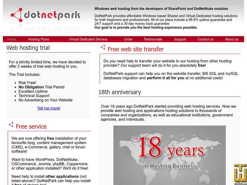 dotnetpark.com Screenshot