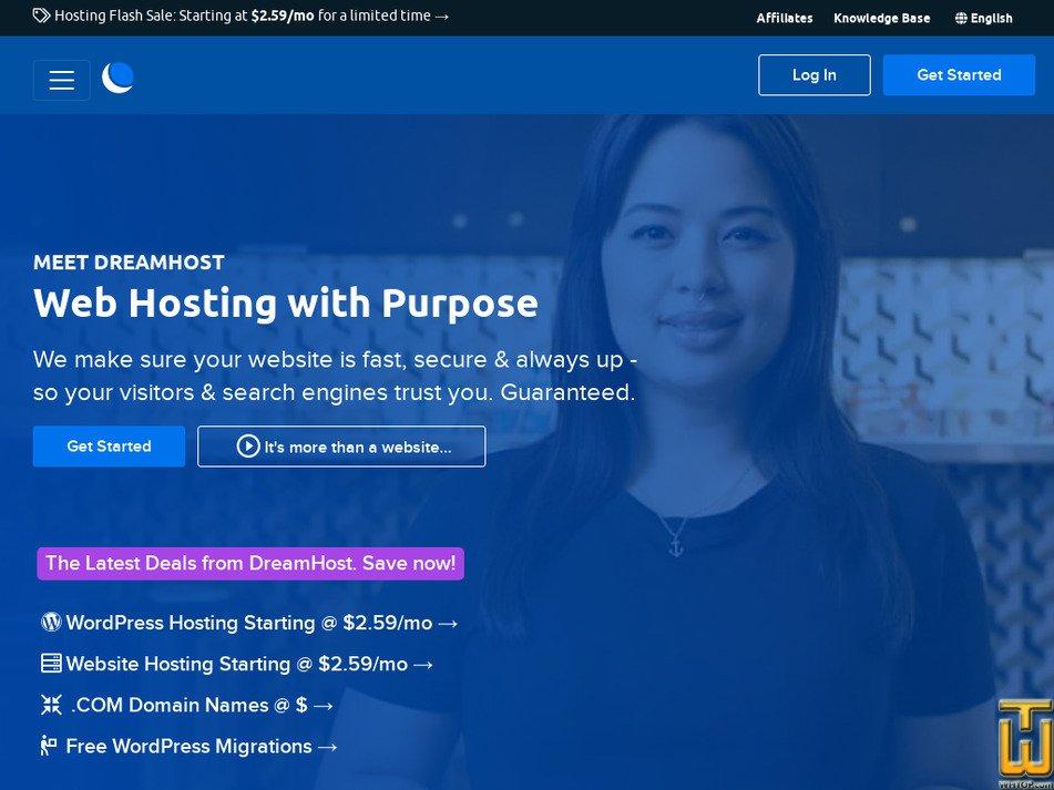 dreamhost.com website logo