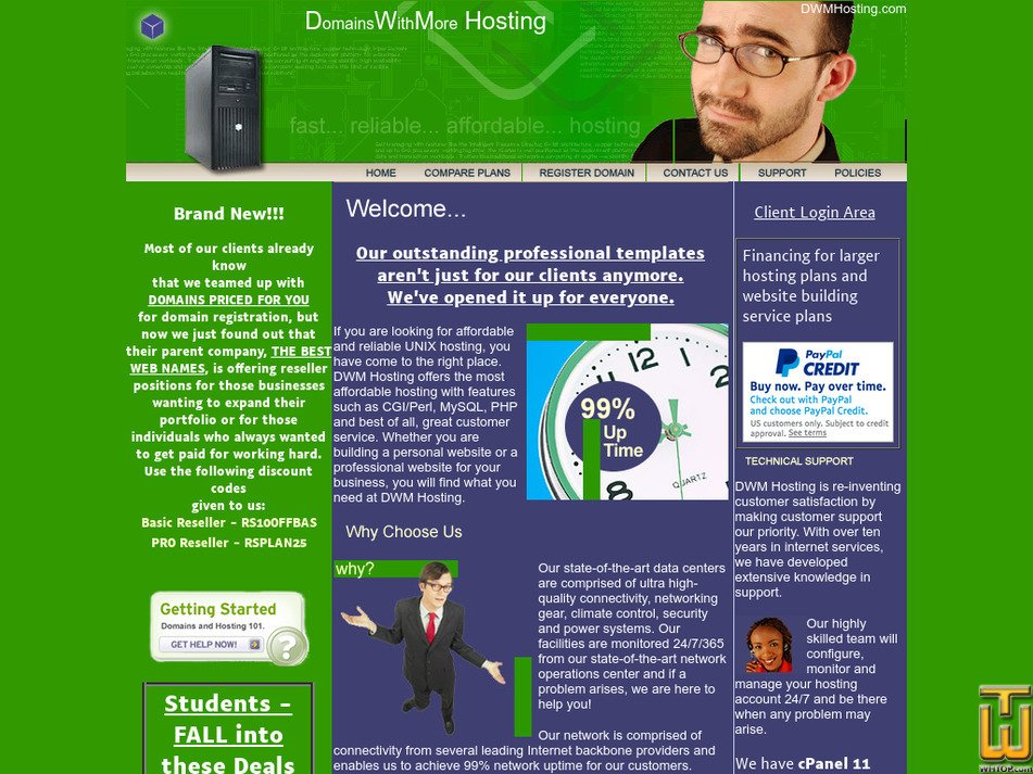 dwmhosting.com Screenshot