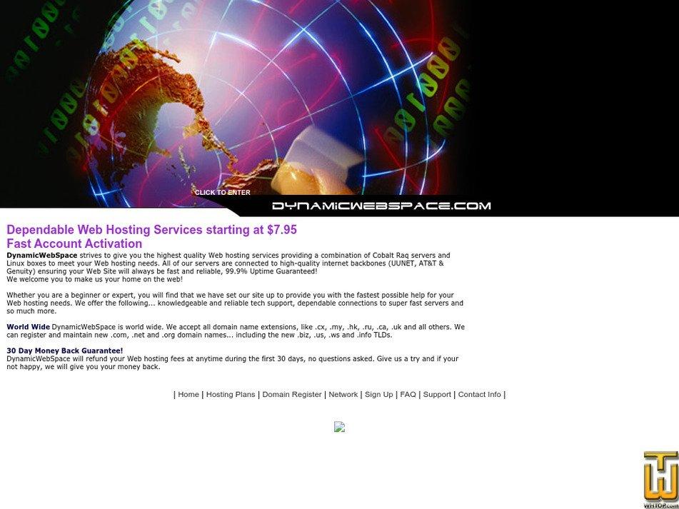 dynamicwebspace.com Screenshot