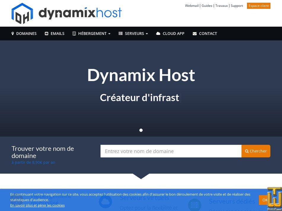 dynamixhost.com Screenshot