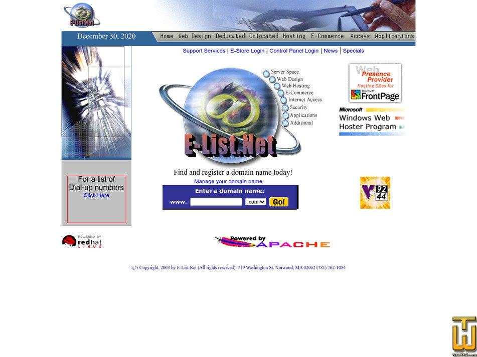 e-list.net Screenshot