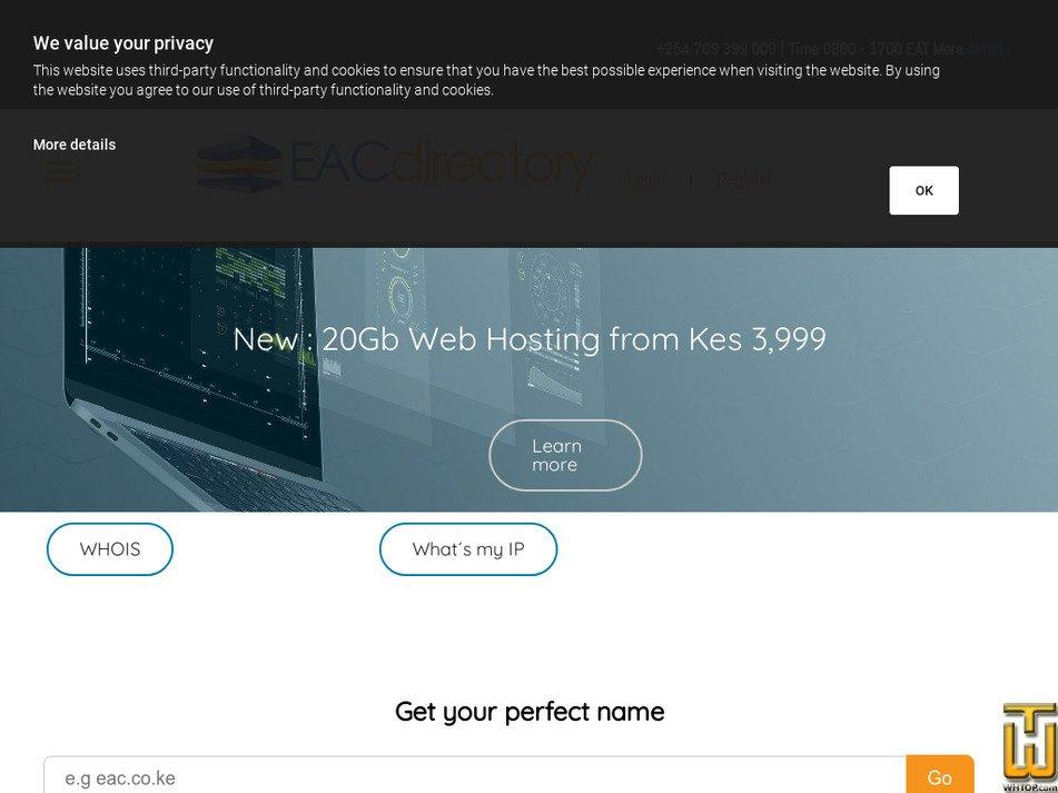 eacdirectory.co.ke screenshot