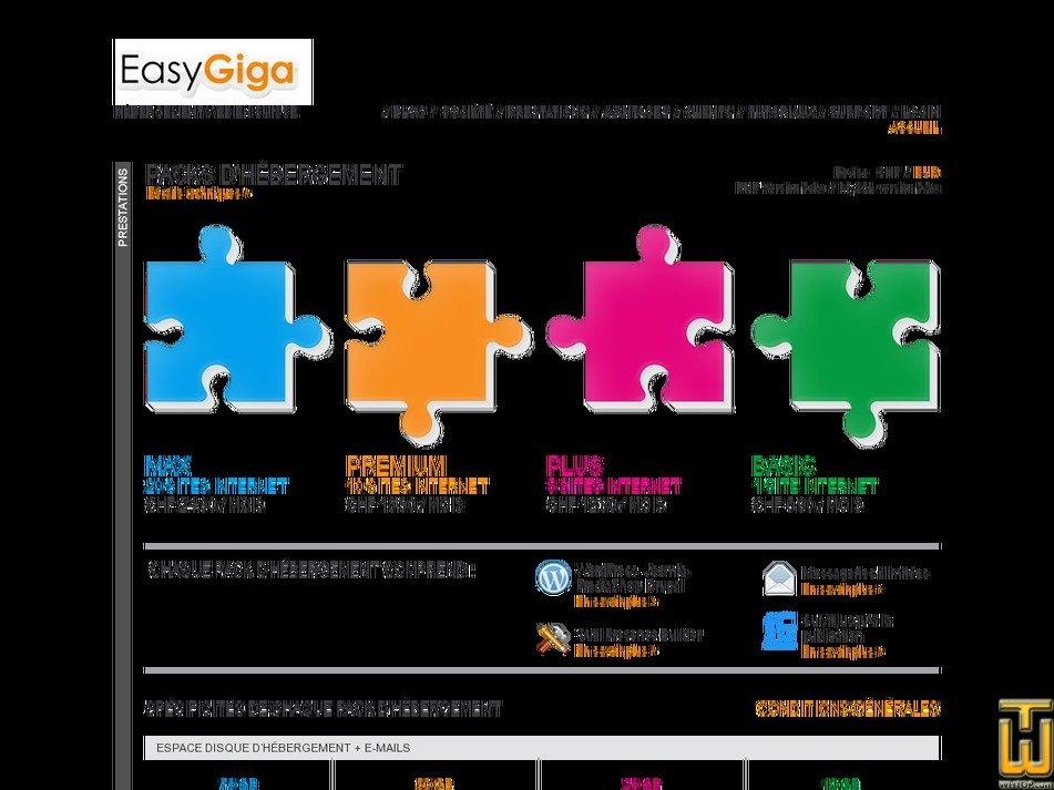 easygiga.com Screenshot