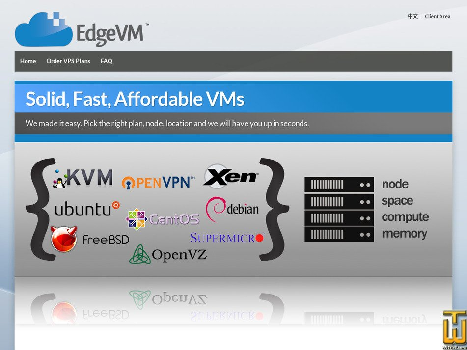 edgevm.com Screenshot