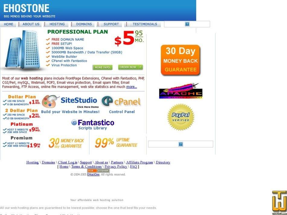 ehostone.com Screenshot