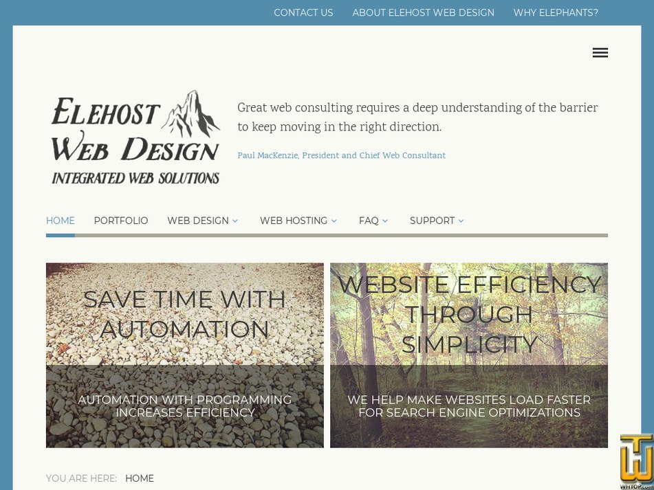 elehost.com Screenshot