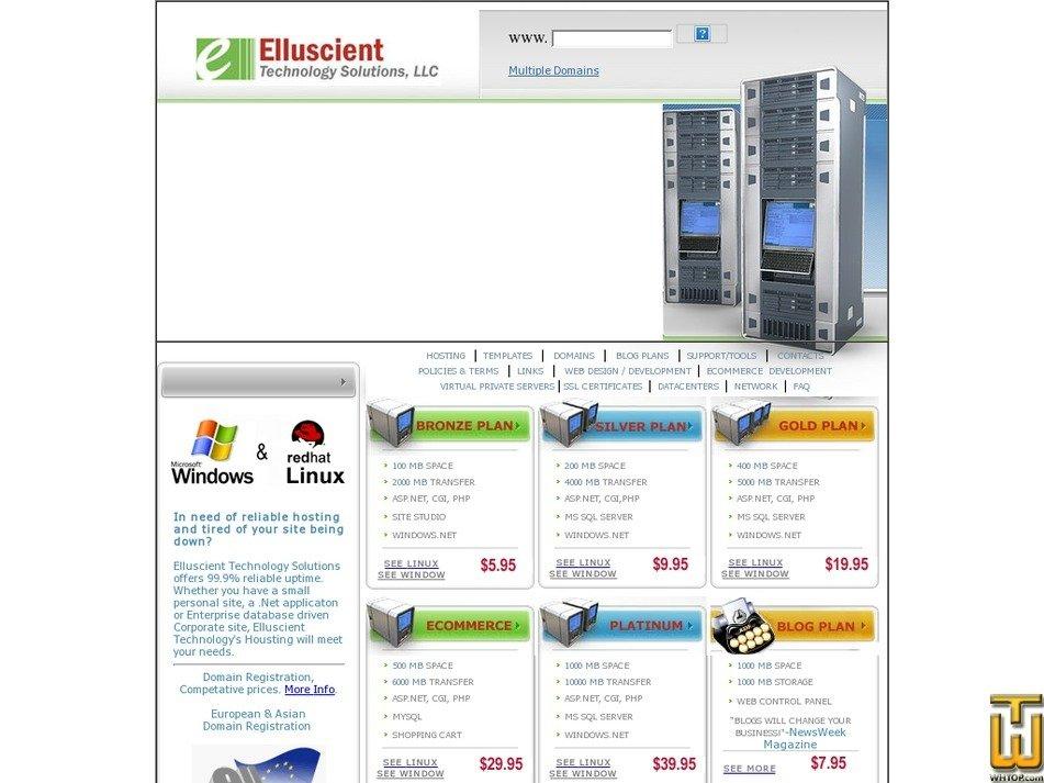 elluscient.net Screenshot