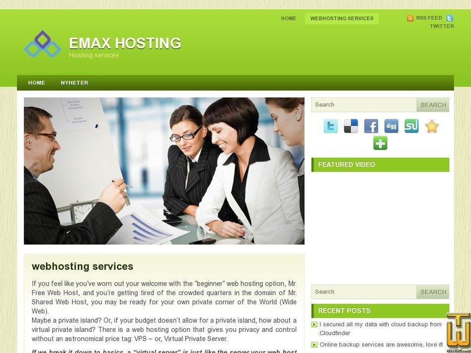 emaxhosting.com Screenshot